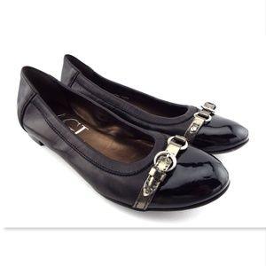 New AGL Signature Black Leather Ballet Flats 36.5
